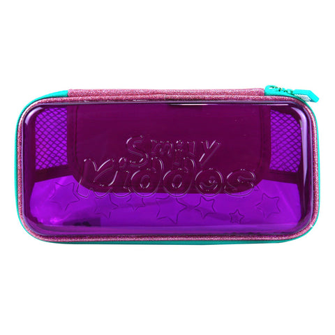 Image of Smily PVC Small Pencil Case Purple