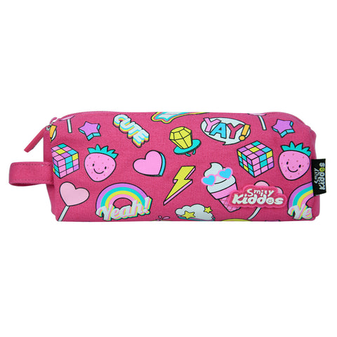 Smily Pencil Pouch Pink