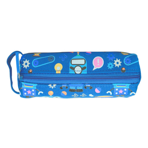 Smily Pencil Pouch Blue