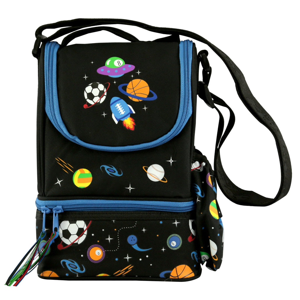 Smily Strap Lunch Bag Black