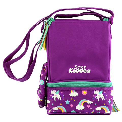 Smily Strap Lunch Bag Purple