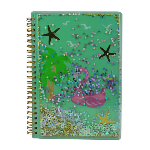 Image of Twinkle Metallic Spiral Notebook Light Blue