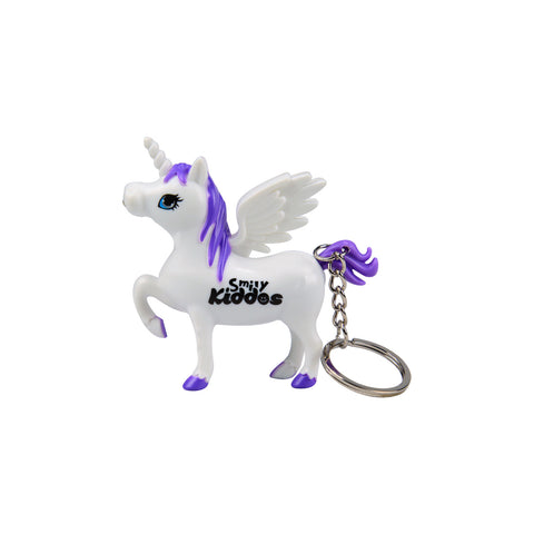 Image of Smily Unicorn Keyring Purple