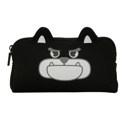Image of Angry Doggy Pencil Case Black