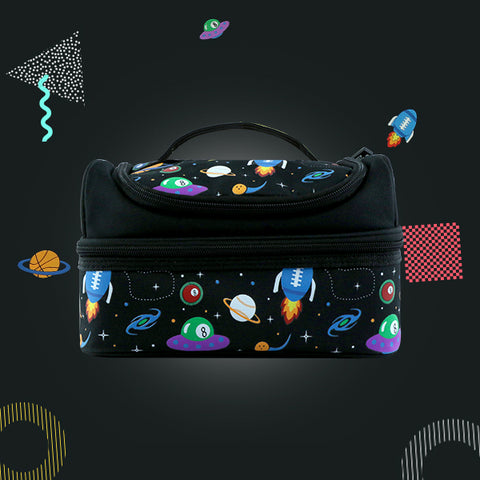 Space Theme Combo Pack ( Backpack, Lunch Bag, Pencil Case, Water Bottle )