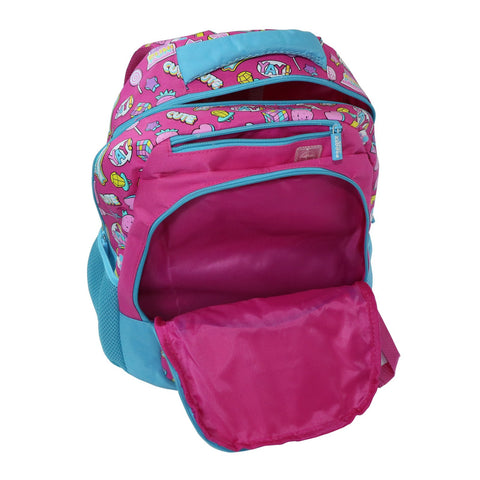 Image of Smily Dual Color Backpack Fun Theme Pink