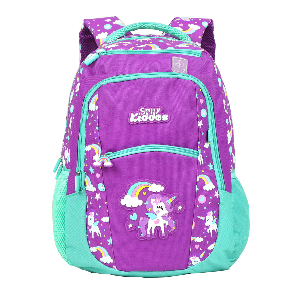 Smily Unicorn Theme set of 3 ( Backpack, Lunch Bag & Pencil Pouch )