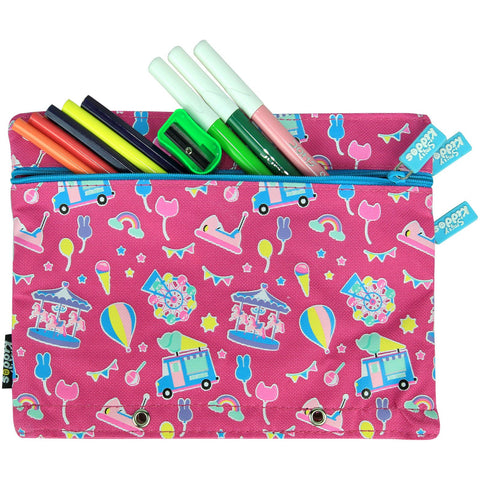 Image of Fancy A5 Pencil Case Pink