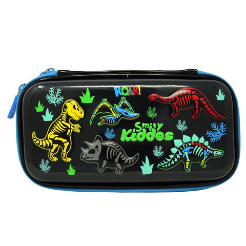 Fancy Dino Small Pencil Case Black