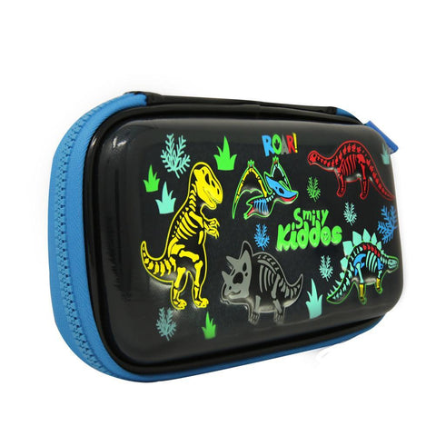Image of Fancy Dino Small Pencil Case Black