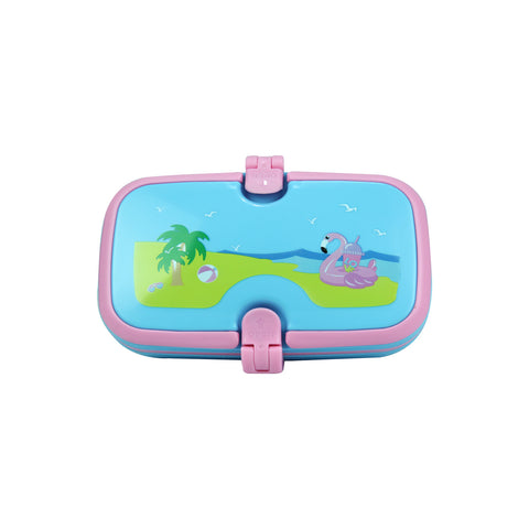 Smily Lunch Box Island Themed Light Blue