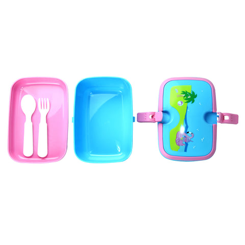 Image of Smily Lunch Box Island Themed Light Blue