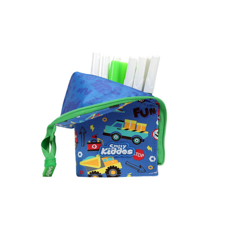 Image of Smily Pen Holder Case Blue