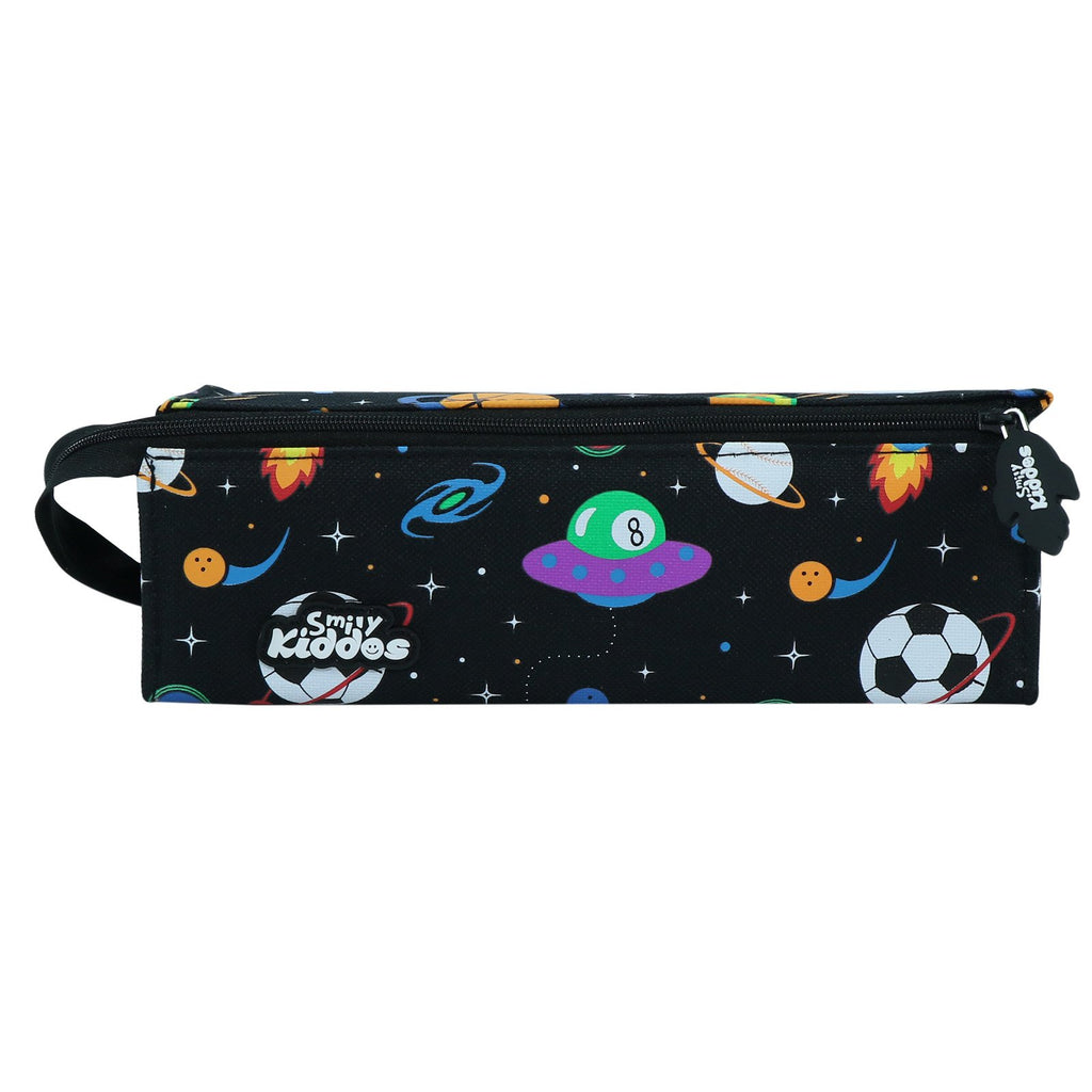 Smily Tray Pencil Case Space Theme Black