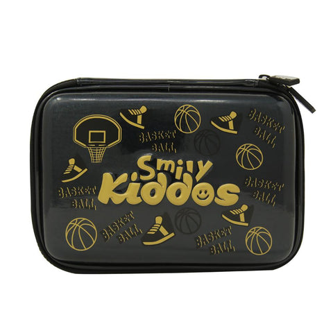 Image of Smily Bling Basket Ball Pencil Case Black
