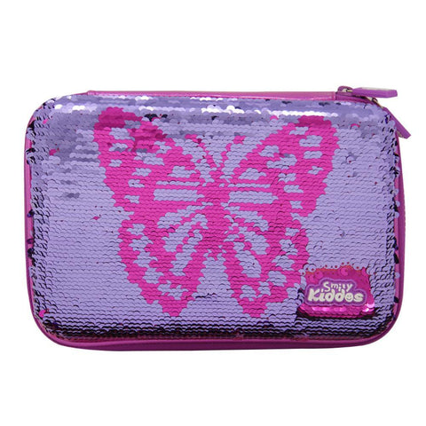 Smily Bling Butterfly Pencil Case Pink