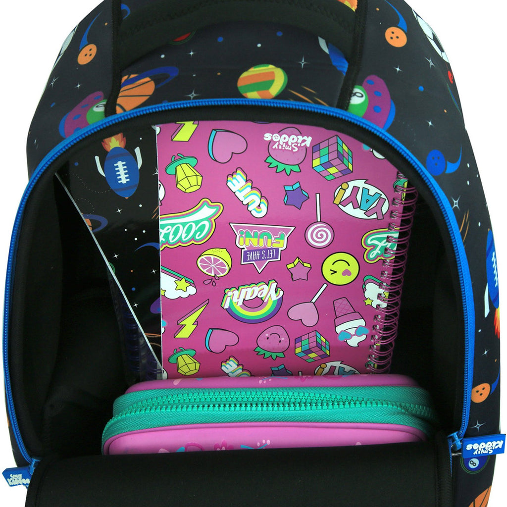 Smily Junior Backpack Black-School Bags For Toddlers