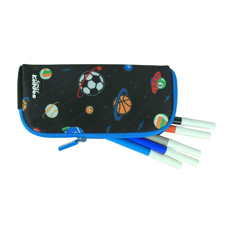 Smily Mini Pencil Pouch Black