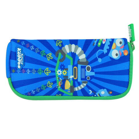 Smily Mini Pencil Pouch Blue
