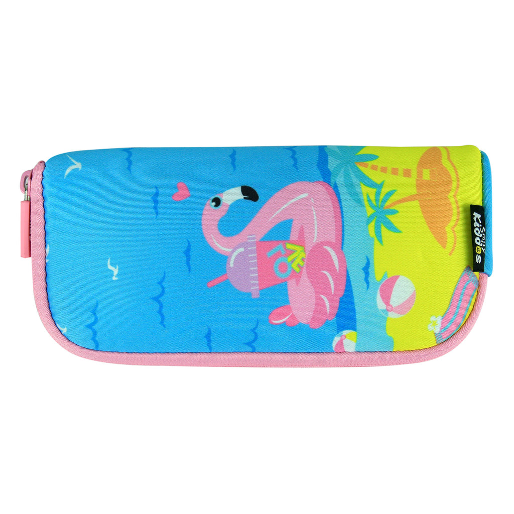 Smily Mini Pencil Pouch Light Blue