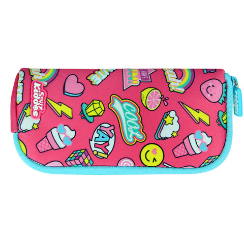 Smily Mini Pencil Pouch Pink