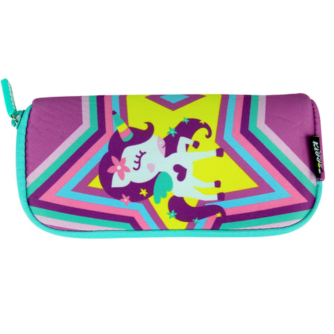Smily Mini Pencil Pouch Purple