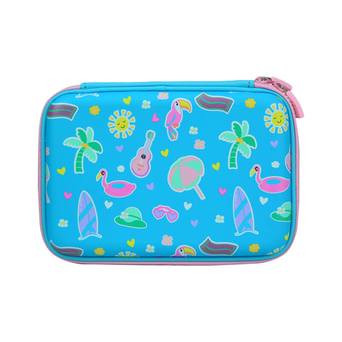 Smily Scented Hardtop Pencil Box Light Blue
