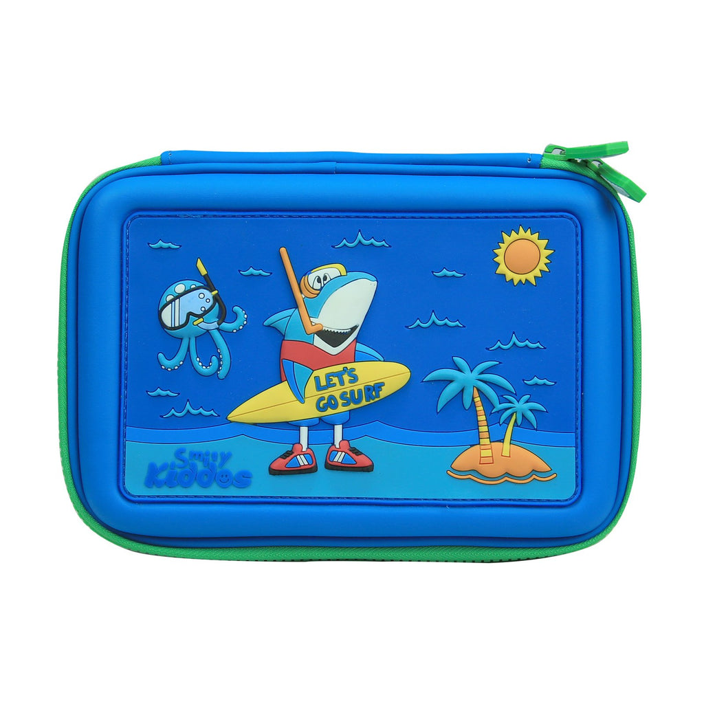 Smily Scented Hardtop Pencil Box Blue