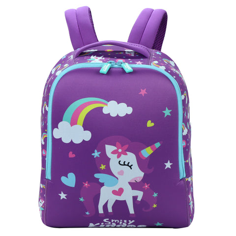 Image of Smily Unicorn Theme (Backpack, Lunch Box & Crayons)