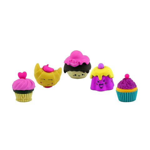Image of Fancy Cup Cake Eraser Set