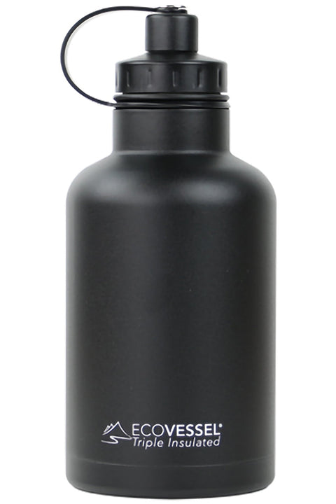 EcoVessel Boss Growler, Black Shadow