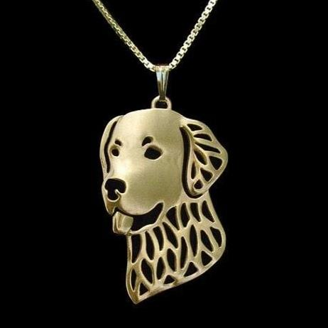 pendentif golden retriever or