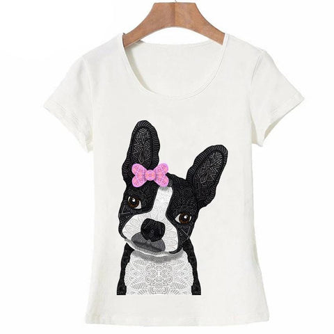 T-Shirt Chien <br> Mandala Boston Terrier