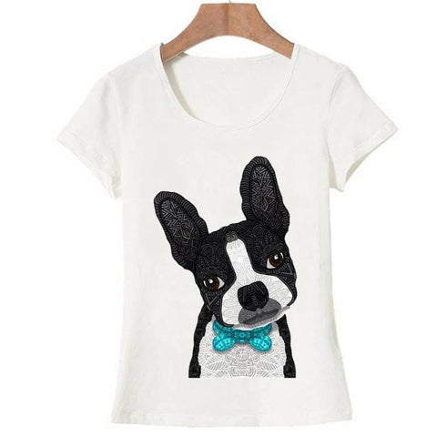 T-Shirt Chien <br> Boston Terrier Stylisé