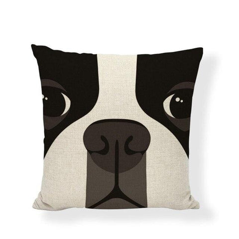 coussin boston terrier truffe