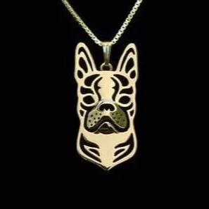 pendentif boston terrier or