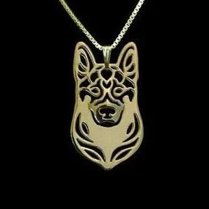 pendentif berger allemand or