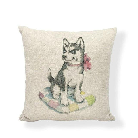 coussin chiot husky