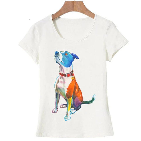 "T-Shirt Chien <br> American Staff ""Coloré"""
