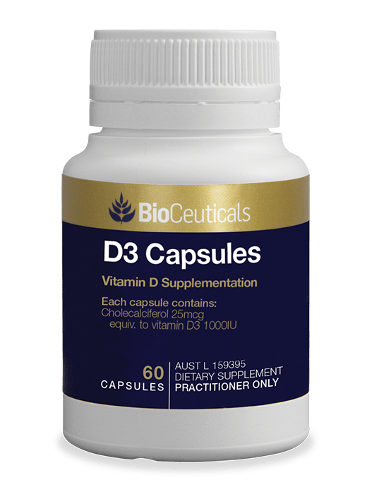 Bioceuticals D3 Capsules Supplement Bioceuticals Pty Ltd