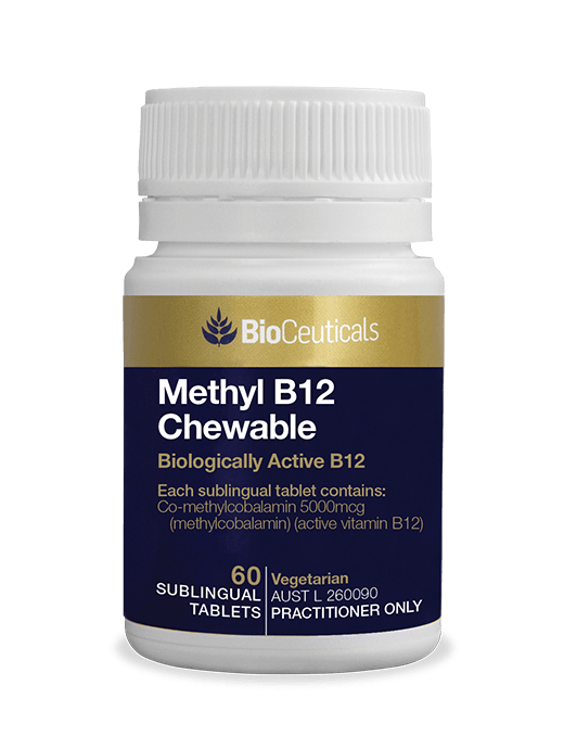 Bioceuticals Methyl B12 Chewable Supplement Bioceuticals Pty Ltd