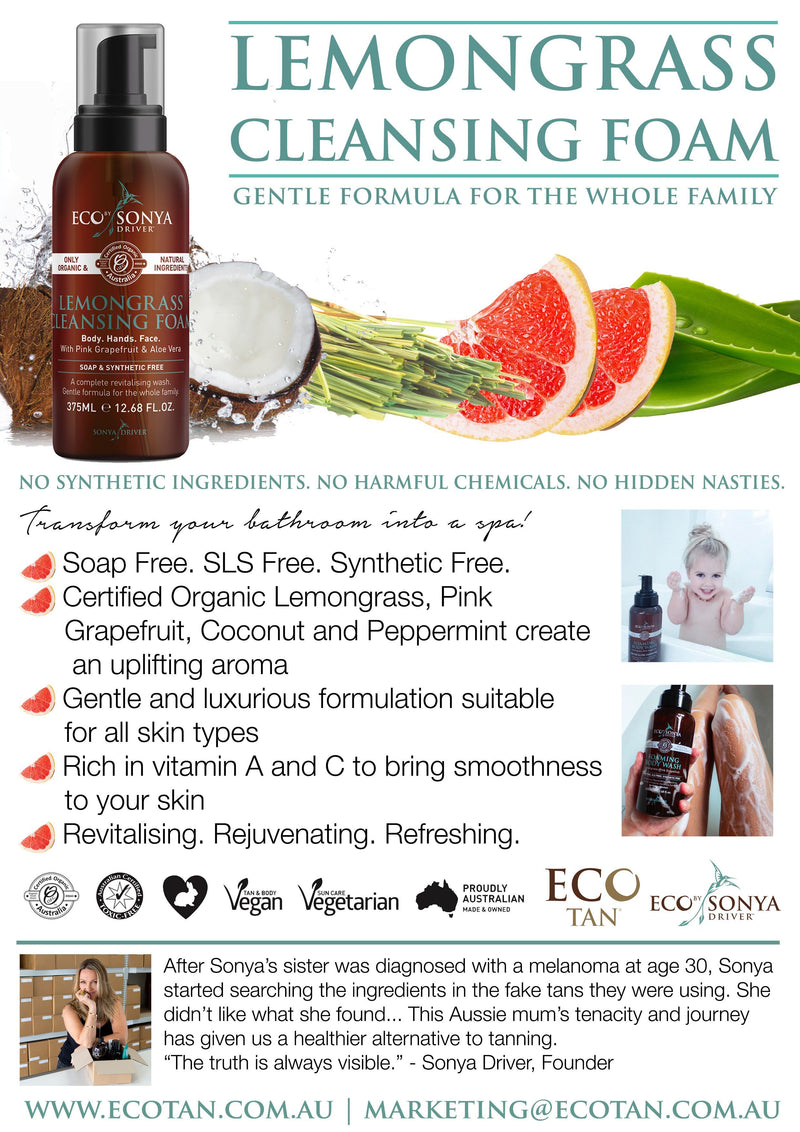 Eco By Sonya Lemongrass Cleansing Foam Health & Beauty Eco Tan Pty Ltd