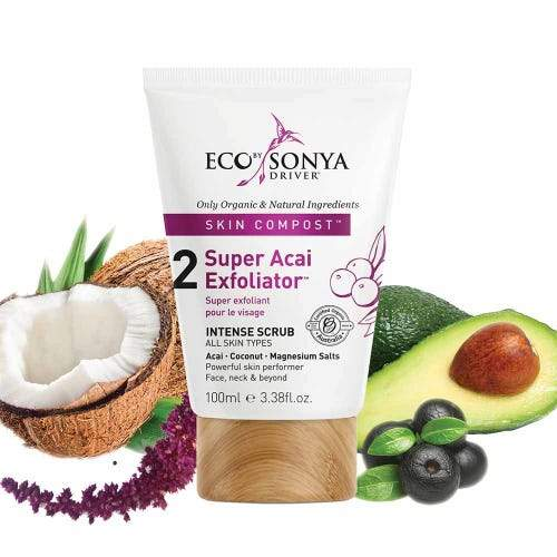 Eco By Sonya Skin Compost Super Acai Exfoliator Natural Skincare Eco Tan Pty Ltd