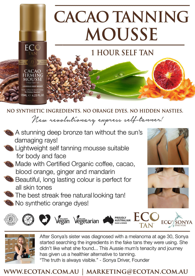 Eco Tan Cacao Tanning Mousse Natural Skincare Eco Tan Pty Ltd