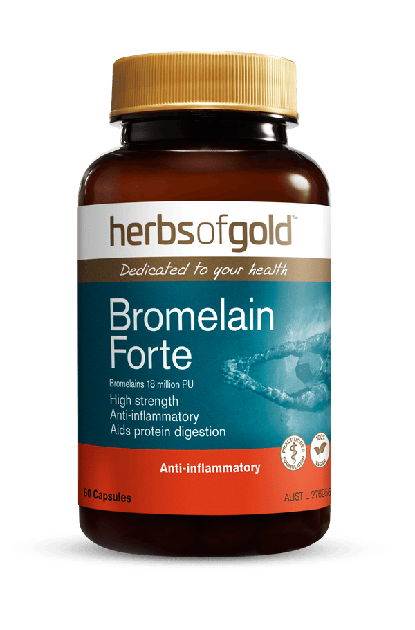 Herbs of Gold Bromelain Forte Supplement Herbs of Gold Pty Ltd