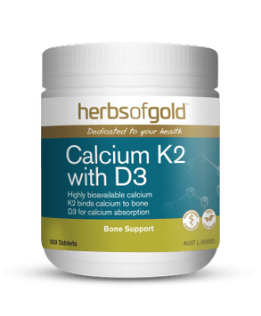 Herbs of Gold Calcium K2 with D3 Supplement Herbs of Gold Pty Ltd