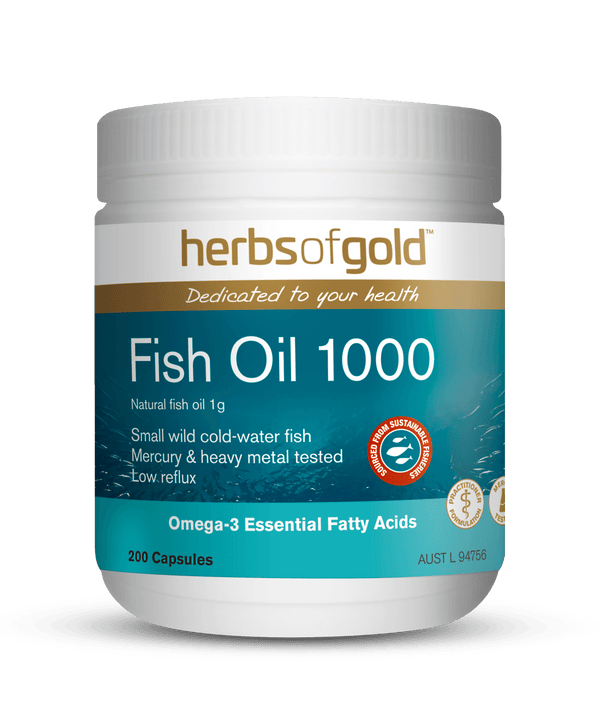 Herbs of Gold Fish Oil 1000 Supplement Herbs of Gold Pty Ltd