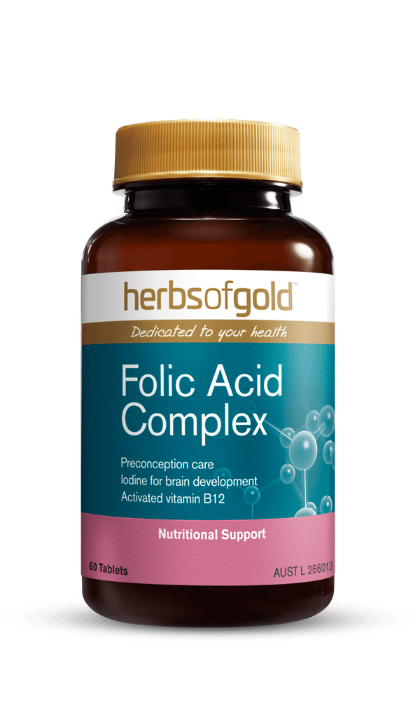 Herbs of Gold Folic Acid Complex Supplement Herbs of Gold Pty Ltd