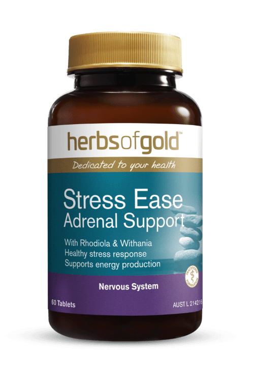 Herbs of Gold Stress-Ease Adrenal Support Supplement Herbs of Gold Pty Ltd