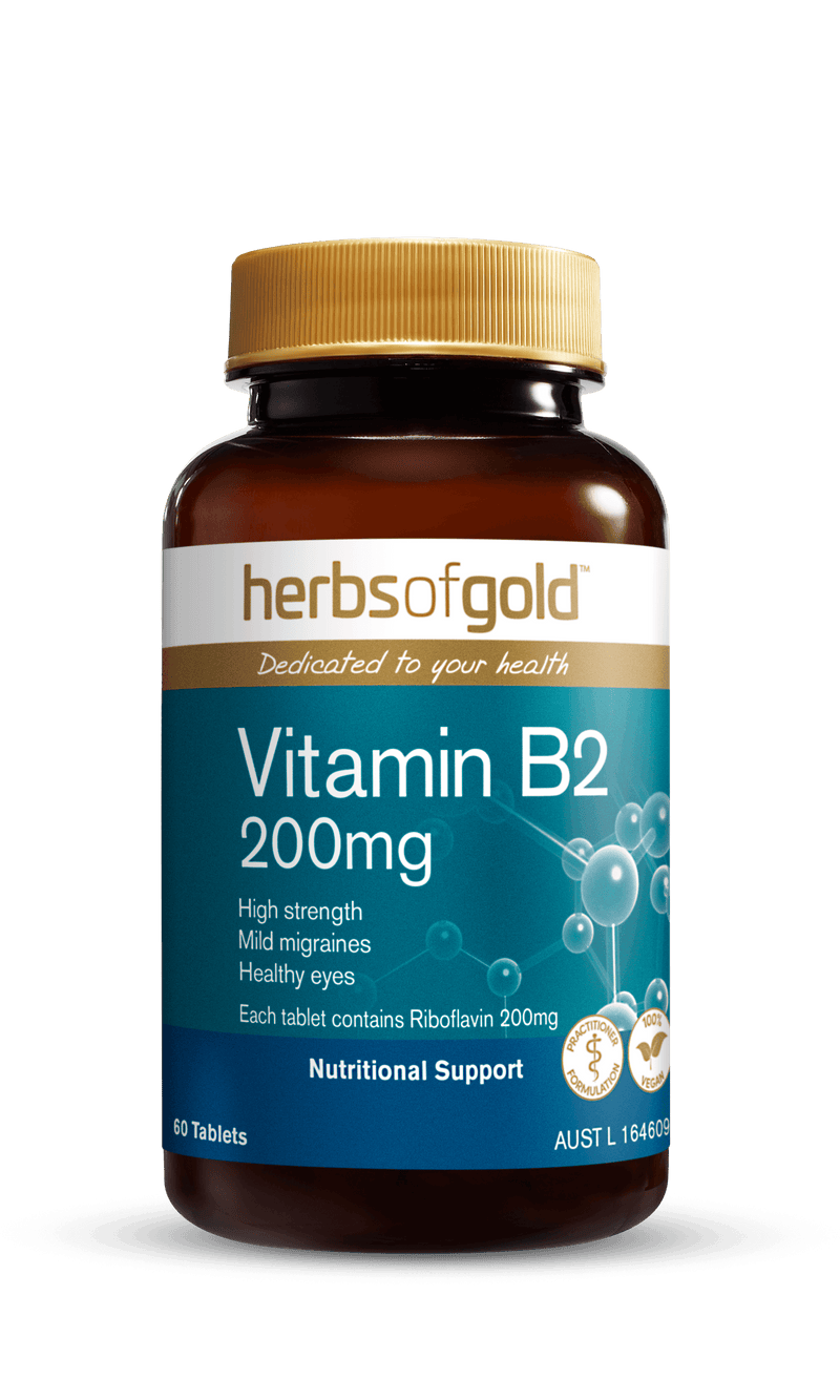 Herbs of Gold Vitamin B2 200mg Supplement Herbs of Gold Pty Ltd